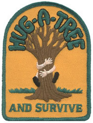 Hug a Tree Badge